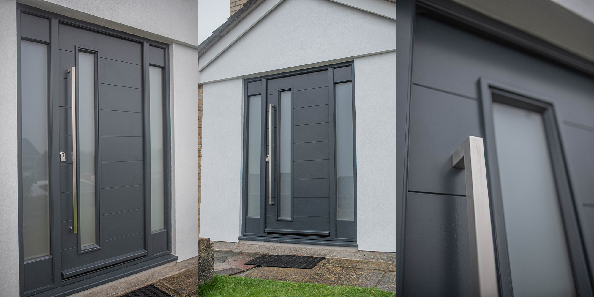 SOX Square Pull Handle situated on contemporary front door